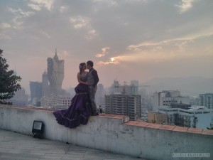 Macau - Guia fortress wedding photo