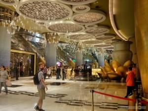 Macau - casino bamboo steamer ceiling