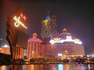 Macau - casino light display