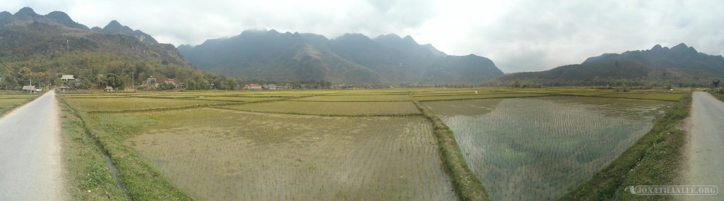 Mai Chau - panorama rice fields 1