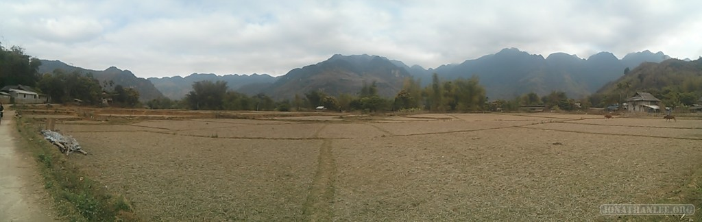 Mai Chau - panorama rice fields 3