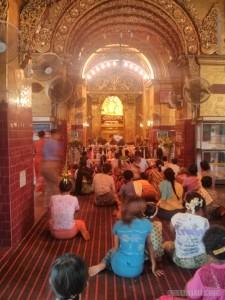 Mandalay - Mahamuni Budhha temple inside 1