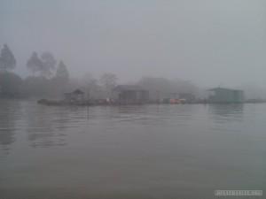 Mekong boat tour - fog 1
