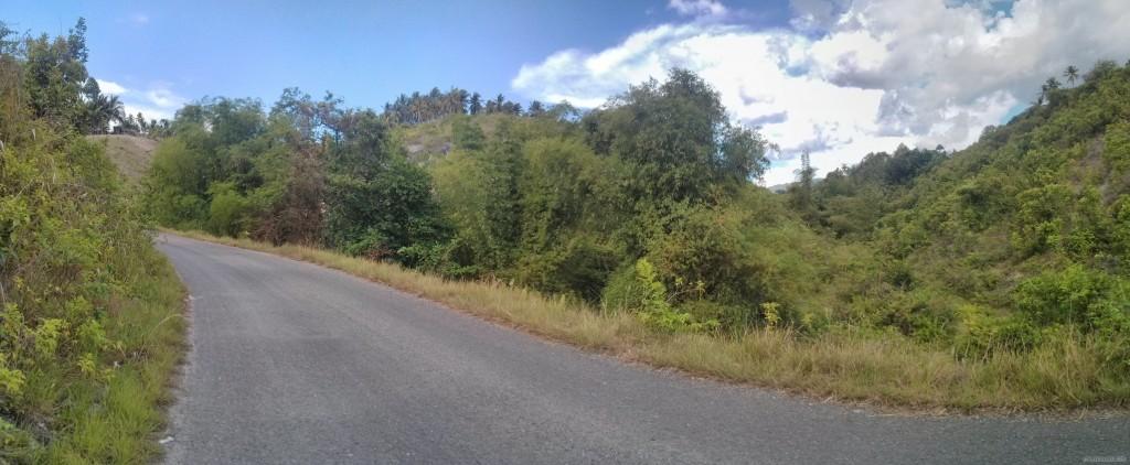 Moalboal - panorama biking path
