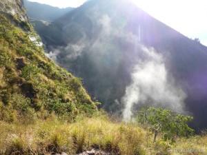 Mount Batur - steam vent 1