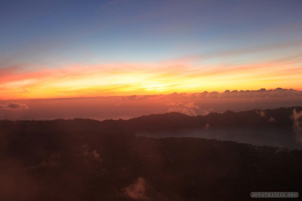 Mount Batur - sunrise scenery 1