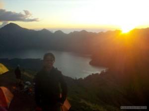 Mount Rinjani - second day sunset portrait