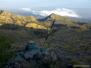 Mount Rinjani - second day trident in stone