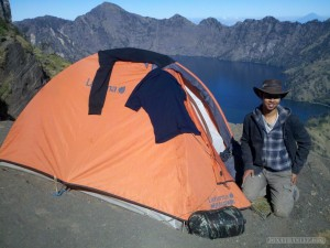 Mount Rinjani - summit camping portrait