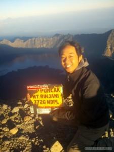 Mount Rinjani - summit portrait 1