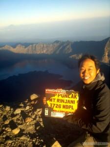 Mount Rinjani - summit portrait 2