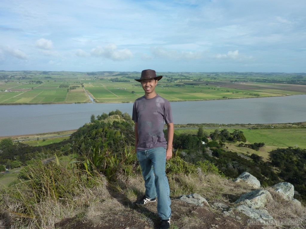 NZ North Island - vantage point portrait
