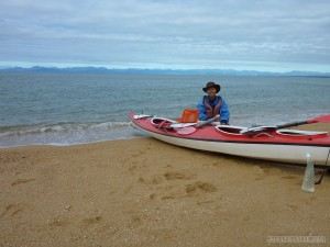 NZ South Island - Able Tasman portrait with kayak