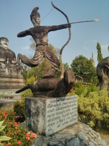 Nong Khai - Sala Keoku 31 archer on bird