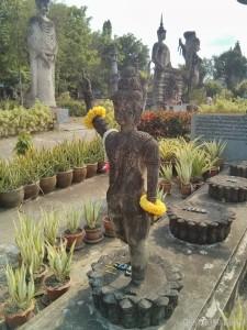 Nong Khai - Sala Keoku 34 giving the finger