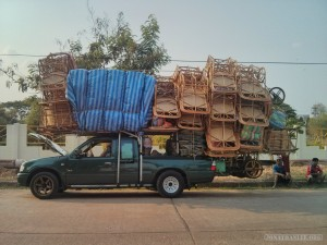 chairs on truck
