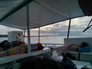 Oslob - sleeping on boat