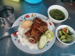 Phnom Penh - breakfast rice