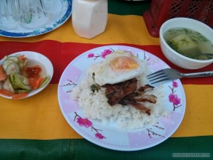 Phnom Penh - simple breakfast