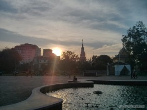 Phnom Penh - sunset over city
