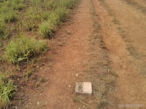 Phonsavan - Field of Jars UXO marker