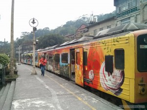 Pingxi - train with murals