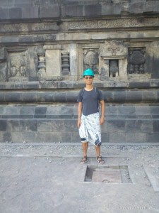 Prambanan - portrait with hard hat