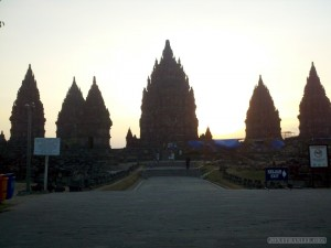 Prambanan - sunset landscape