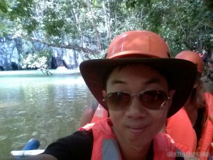 Sabang -  underground river on boat portrait