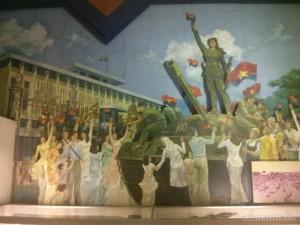 Ho Chi Minh city museum propoganda poster