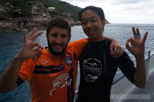 Scuba diving on Koh Tao - with partner