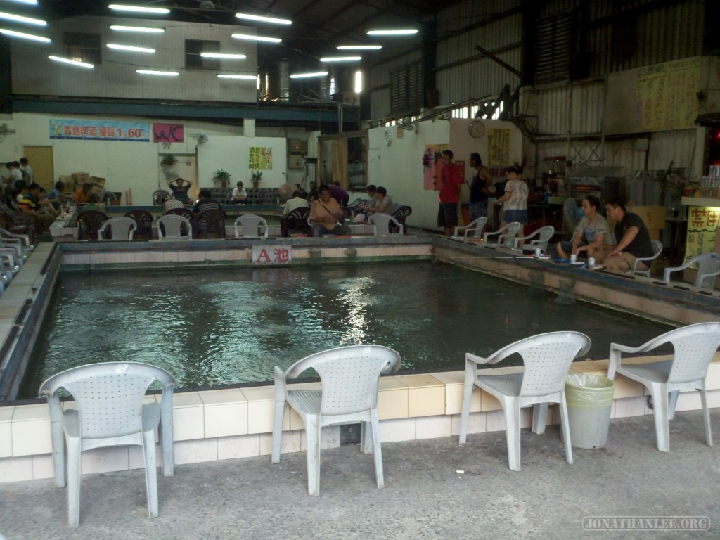Shrimp fishing - pool