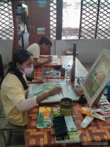 Siem Reap - Artisans d'Angkor silk painting 1