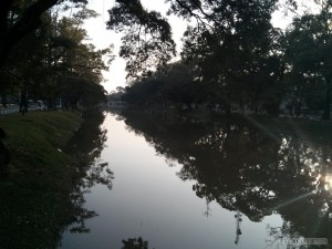 Siem Reap - river reflection