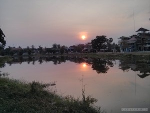 Siem Reap - riverside sunset 1