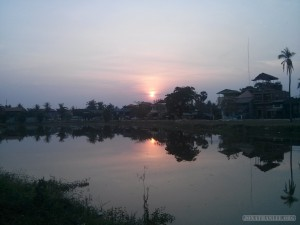 Siem Reap - riverside sunset 2