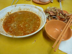 chili crab after