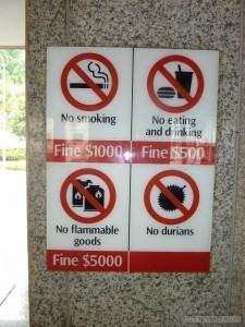 Singapore - no durians