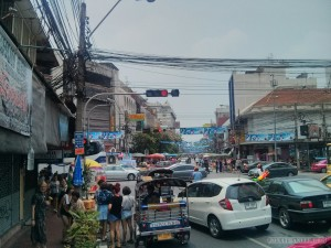 Songkran in Bangkok - Khao San approach 1
