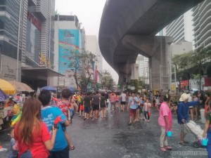 Songkran in Bangkok - Silom approaching 1