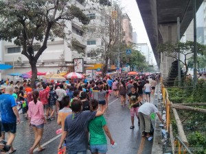 Songkran in Bangkok - Silom approaching 2