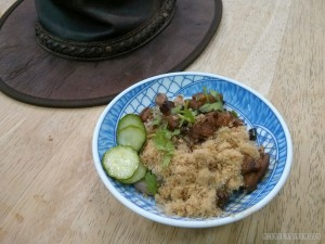 Tainan - pork floss rice