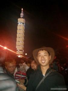 Taipei 101 New Years fireworks - portrait