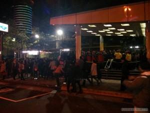 Taipei 101 New Years fireworks - subway station packed