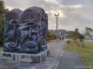Taitung - bike trail start statue