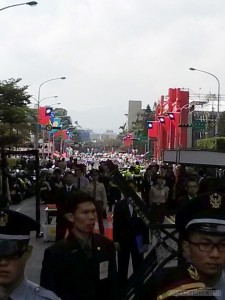 Taiwan National Day - parade in distance