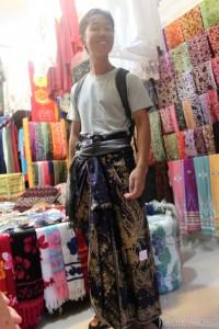 Ubud - portrait in sarong