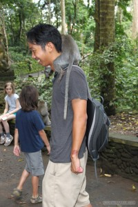 Ubud - with monkey 1
