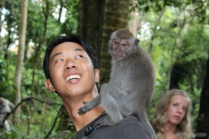 Ubud - with monkey 2