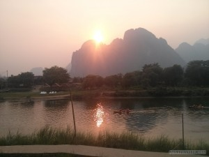 Vang Vieng - river view sunset 3